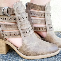 INDIE LOVE BOOTIES IN TAUPE