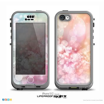 The Unfocused Pink Abstract Lights Skin for the iPhone 5c nüüd LifeProof Case
