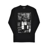 Mens Blood Brother X Baron Tyrone Lebon Postet Black Long Sleeved T-shirt