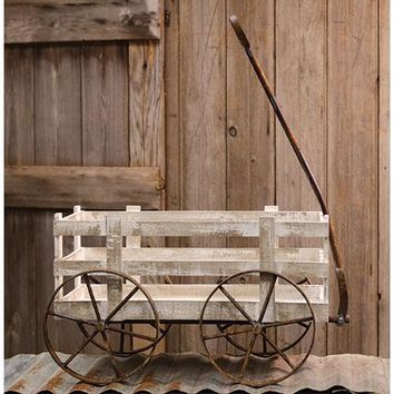 White Wooden Crate Wagon
