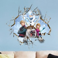 Pop Out Broken Wall Frozen Removable Wall Decal