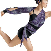 Sequin Lace Wrapped Biketard -Weissman Costumes