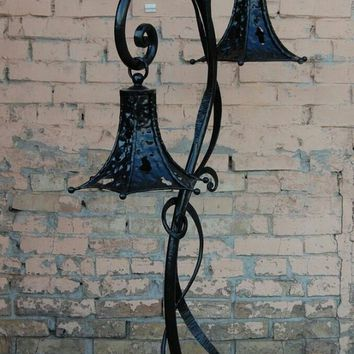 Garden lantern, fairy lantern, outdoor lighting, lamp post, metal lantern, fairy lights, party decor, garden sculpture,fall decor,yard decor