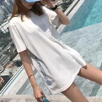 """Chrome Hearts"" Women Casual Fashion Personality Letter Short Sleeve T-shirt Top Tee"