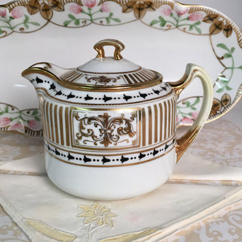 Glitzy Nippon China Teapot, Antique Teapot, Server, Tea for One, Antique China