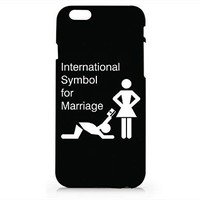 Amazon.com: Marriage Black Quotes Iphone 6 6S Case, Black Matt Iphone 6 6S Hard Cover Case For Apple Iphone 6/6S -Emerishop (AH1165): Cell Phones & Accessories