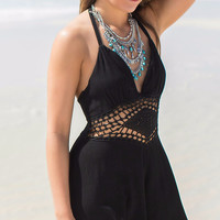 Slice Of Heaven Black Cut Out Romper