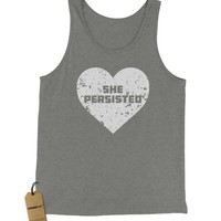 Heart Nevertheless, She Persisted Jersey Tank Top for Men