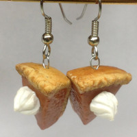 Pumpkin Pie Earrings, Polymer Clay Jewelry
