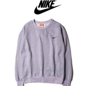 """Nike"" Fashion long sleeve sweater thick Grey"