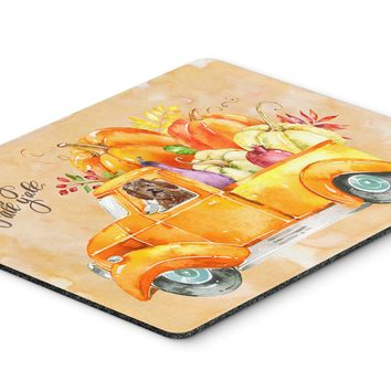 Fall Harvest Labradoodle Mouse Pad, Hot Pad or Trivet CK2623MP