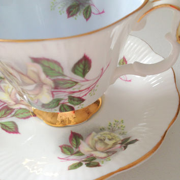 English Royal Albert Bone China Footed Teacup and Saucer Tea Party