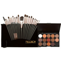 20pcs Makeup Brushes 15 Colors Shimmer Matte Eye shadow Professional Makeup Eyeshadow Palette Beauty Make up Set