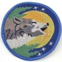 Wolf sew-on patch 3""