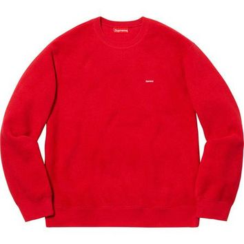 SUPREME Polartec® Small Box Crewneck- Red