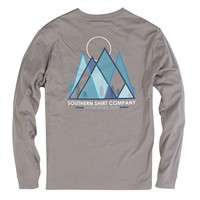 Pikes Peak Long Sleeve Tee in Frost Grey by The Southern Shirt Co.