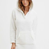 Plush Polar Bear Hooded Nightdress