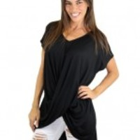 Black Short Sleeve Top