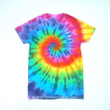 SALE! Small Rainbow Spiral Tie Dye Shirt