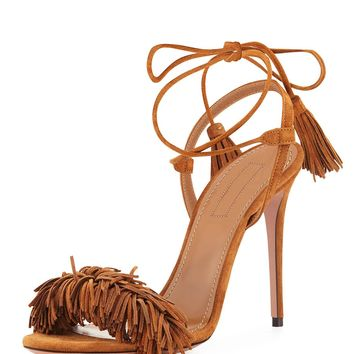 Wild Thing Suede Sandal, Cognac