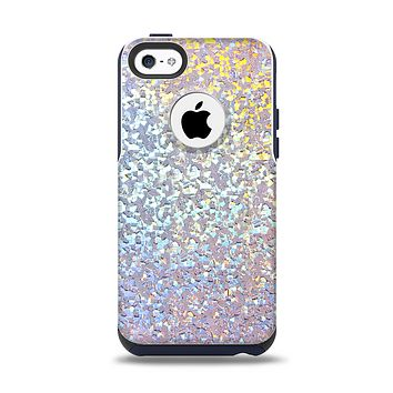 The Colorful Confetti Glitter Sparkle Apple iPhone 5c Otterbox Commuter Case Skin Set