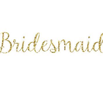 Diy Bridesmaid Glitter Iron On Vinyl Decal 5 Colors