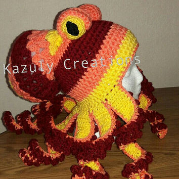 Shop Crochet Octopus On Wanelo Classy Crochet Octopus Hat Pattern