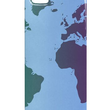Cool World Map Design iphone 5 & 5S Plastic Case All Over Print by TooLoud