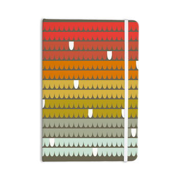 "Pellerina Design ""Rainbow Scallops"" Red Orange Everything Notebook"