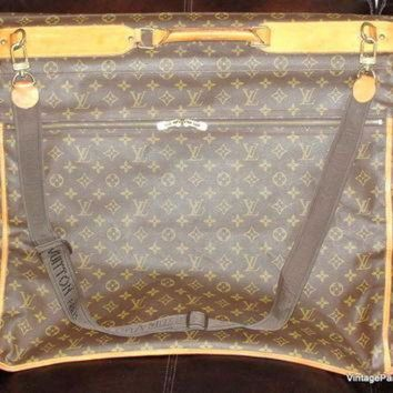 PEAPYD9 Louis Vuitton Monogram Luggage Folding Garment Bag