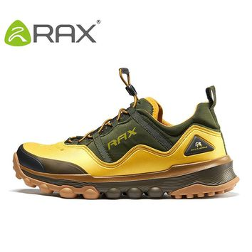 RAX Outdoor Breathable Hiking Shoes Men Lightweight Walking Trekking Wading Shoes Sport Sneakers Men Outdoor Sneakers Male