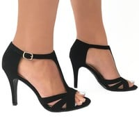 New Romance Suede Heels in Black