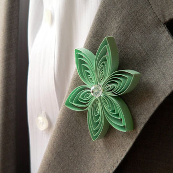 Mint Boutonniere for Formal, Mint Prom, Mint Quinceanera, Mint Sweet 16, Homecoming