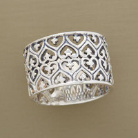 FILIGREE HEARTS BAND         -                Rings         -                Jewelry                       | Robert Redford's Sundance Catalog