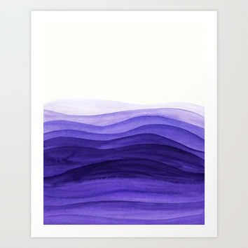 Ultra violet waves Art Print by vivigonzalezart