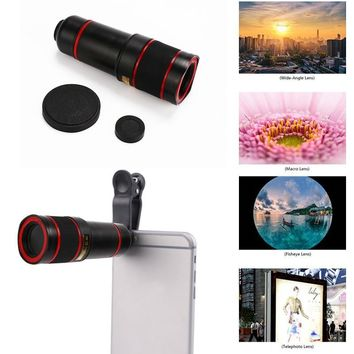 Universal 14x Optical Zoom Phone Telescope Clip-On Camera HD Lens Magnifier