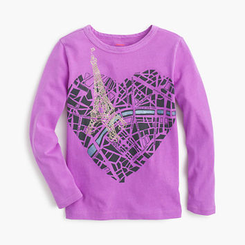 crewcuts Girls Metallic Map Of Paris T-Shirt