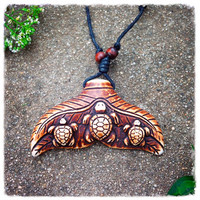 Handmade Turtles on Tail Necklace