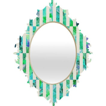 Bianca Green Floral Order Mint Baroque Mirror
