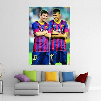 Lionel Messi & Neymar Barcelona - Giant Wall Art Poster