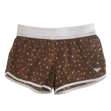 Summer Women's Quick Dry Board Surfing Shorts Elastic-band Hot Panty Fresh Print Leisure Shorts