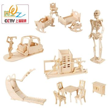 Free delivery Furniture 3D Wooden puzzle,wooden house puzzle toy,toys for children,Learning & Education Toy