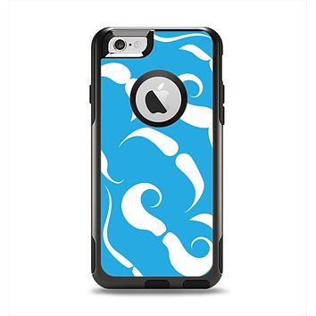 The White Mustaches with blue background Apple iPhone 6 Otterbox Commuter Case Skin Set