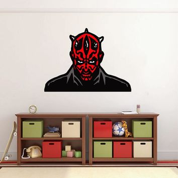 cik1565 Full Color Wall decal Darth Maul Star Wars character bedroom children's room