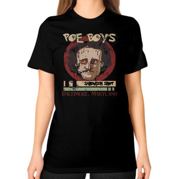 POE BOYS Unisex T-Shirt (on woman)