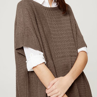 Textural Poncho Sweater | LOFT