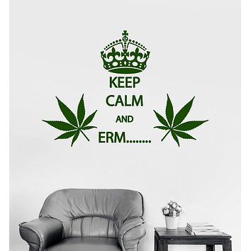 Vinyl Wall Decal Cannabis Rastafarian Quote Smoking Weed Stickers Unique Gift (ig4031)