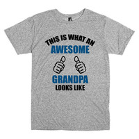 Funny T Shirt for Grandpa.  This is what an Awesome Grandpa looks like.