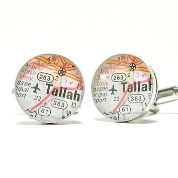 FSU Seminoles Map Cufflinks
