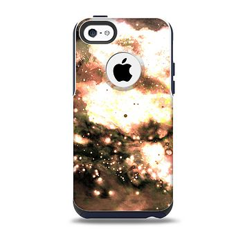 The Bright Gold Cloudy Lights Skin for the iPhone 5c OtterBox Commuter Case